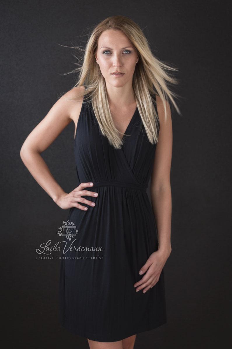 feminin fotosession posering